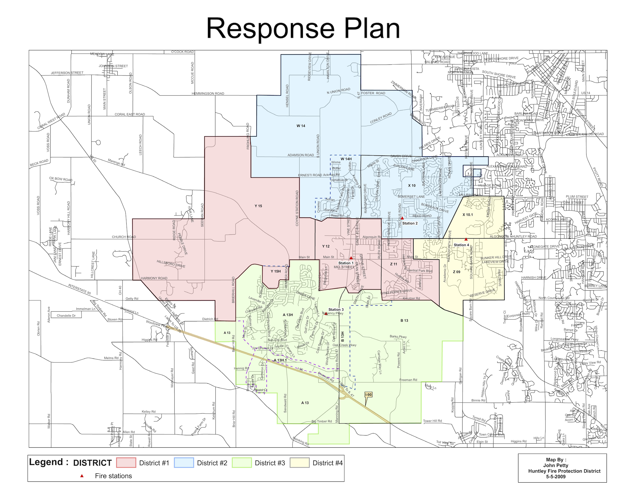 Huntley Fire Protection District Map